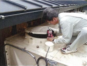 槽内空気濃度測定法による測定